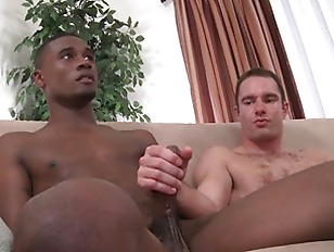Str8 black guy and white guy have 1st time gay sex
