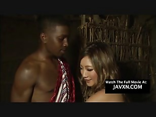 Asian Teen Gets Big Black Dick In Africa